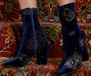 blue, boot, and outfit image