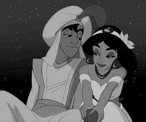 aladdin, disney, and couple image