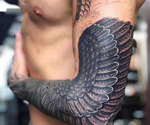 Tattoos, tattoo, and wings image