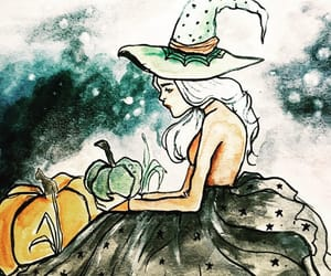 art, helloween, and witch image