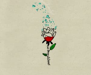 flower, tattoo, and in my blood image