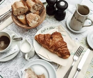 food, breakfast, and bread image