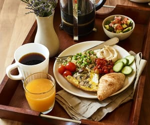 beautiful, breakfast, and coffee image
