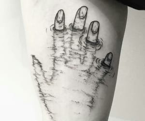 tattoo, hands, and water image
