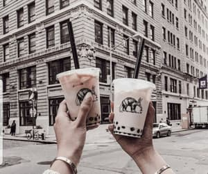 coffee, friends, and city image