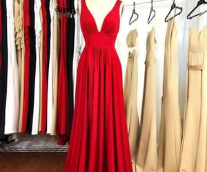 evening dress, prom dress, and red dress image