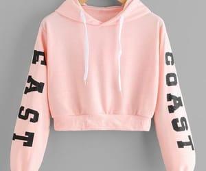 coat, pink, and moletom image