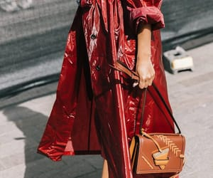 fashion, red jacket, and fashion week image