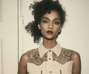 curls, hairstyles, and lipstick image