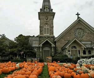 autumn colors, peacedale rhode island, and congressional church image