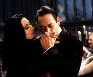 morticia, the addams family, and gomez image