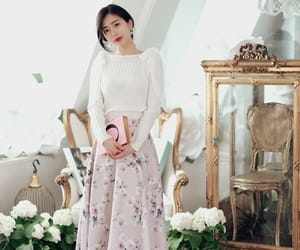 cherry blossom, k fashion, and korean outfit image
