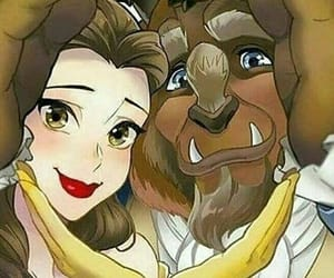 beauty and beast and disney image