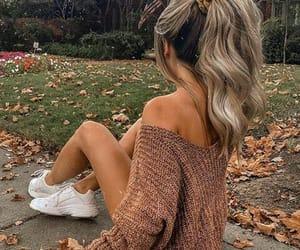 autumn, blonde, and fashion image