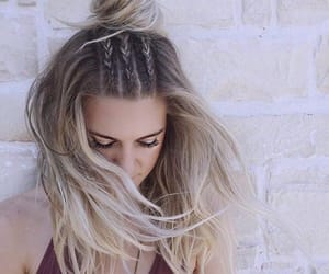 beautiful, hair, and silver image