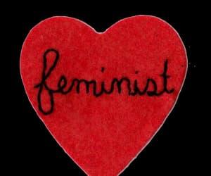 feminist, feminism, and heart image