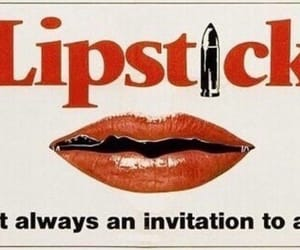 ad, invitation, and lips image