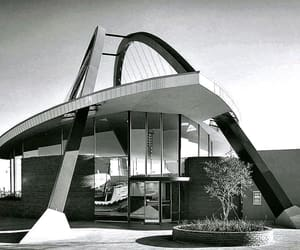 architecture, mid century, and vintage photography image