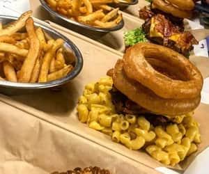 comida, macaroni, and papas fritas image