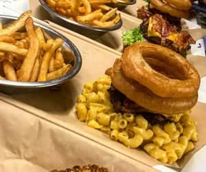 comida, fries, and onion rings image