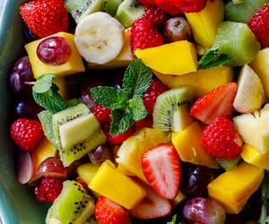 fruit, healthy, and strawberry image