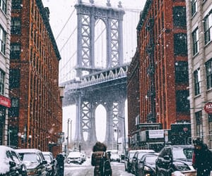 snow, city, and new york image