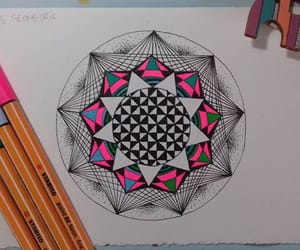draw, mandala, and mandalas image