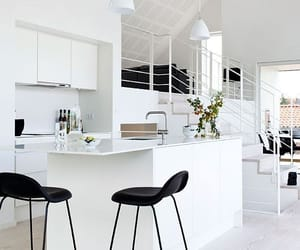 interior, white, and kitchen image