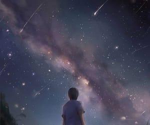 art, beautiful, and comet image