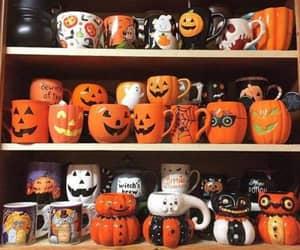 Halloween, pumpkin, and cup image