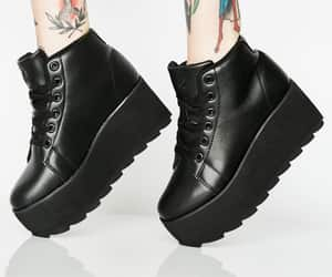 boots, punk, and shoes image