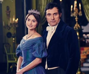 rufus sewell, victoria, and jenna coleman image