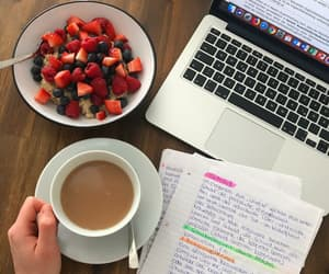 coffee, free time, and fruit image