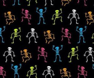 Halloween, skeletons, and wallpaper image