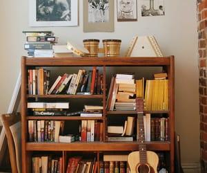 book, guitar, and indie image