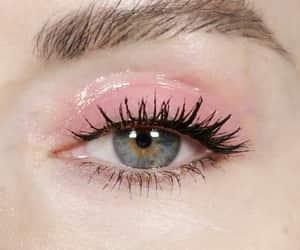 pink, eyes, and makeup image