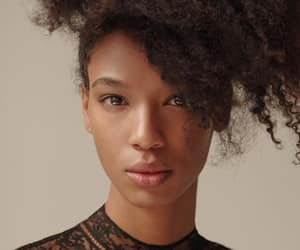 black women, curls, and curly hair image