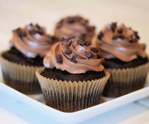 cupcakes, chocolate, and food image