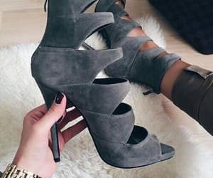 shoes, heels, and grey image