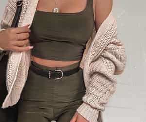 cardigan, outfit, and handbag image