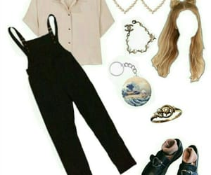 hearts, overalls, and Polyvore image
