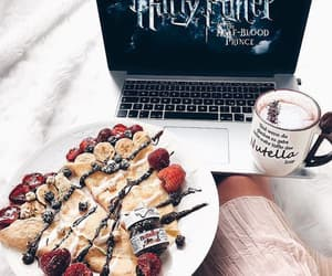 harry potter, pancakes, and nutella image