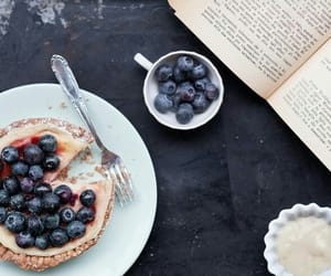 blueberry, book, and cream image