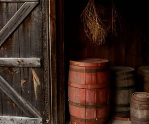 barn, barrels, and country life image