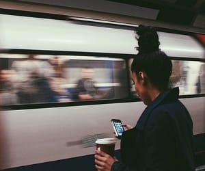 girl and train image