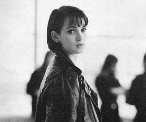 winona ryder, aesthetic, and black and white image