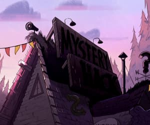 animation, clouds, and mystery shack image