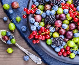 blue, food, and FRUiTS image