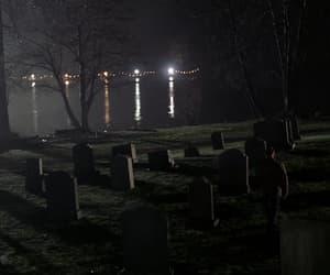 cemetery, night, and sadness image
