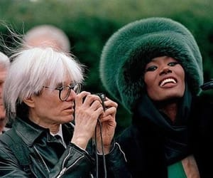andy warhol and grace jones image